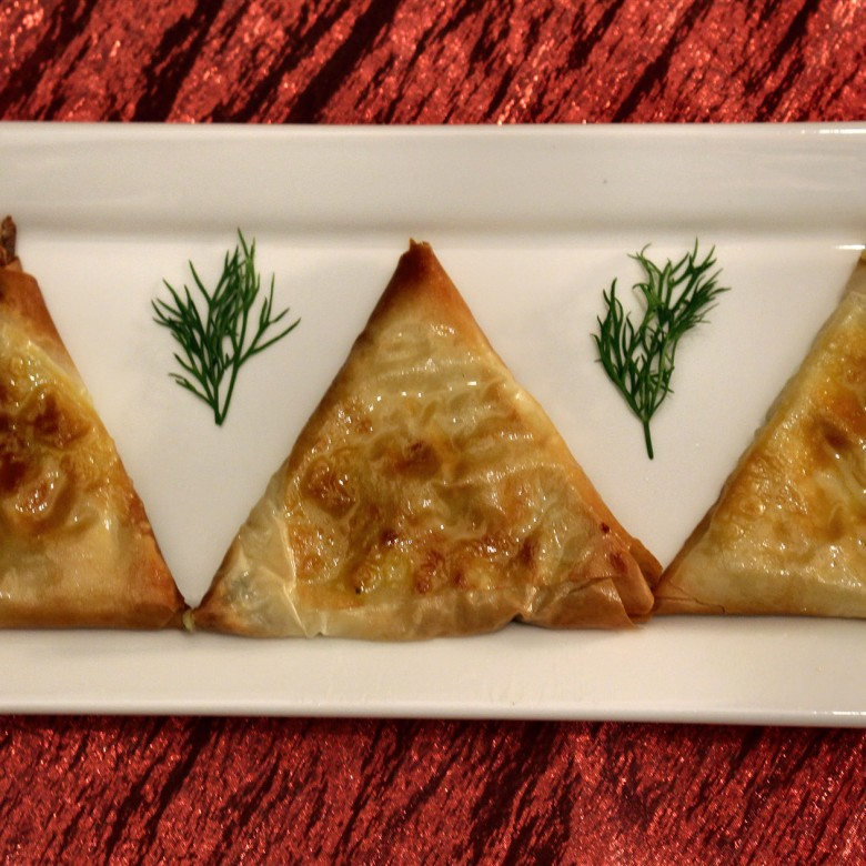 """Gonna Find My Baby"" Feta and Herb Phyllo Pastry Purses"