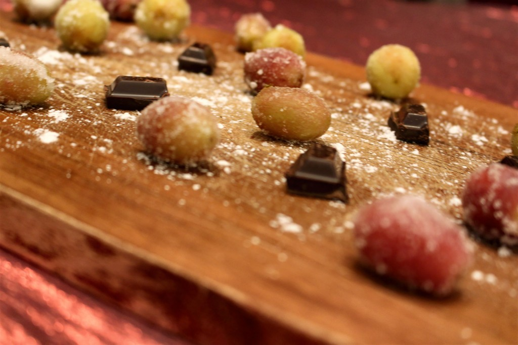 Frozen Grapes, Wine and Chocolate