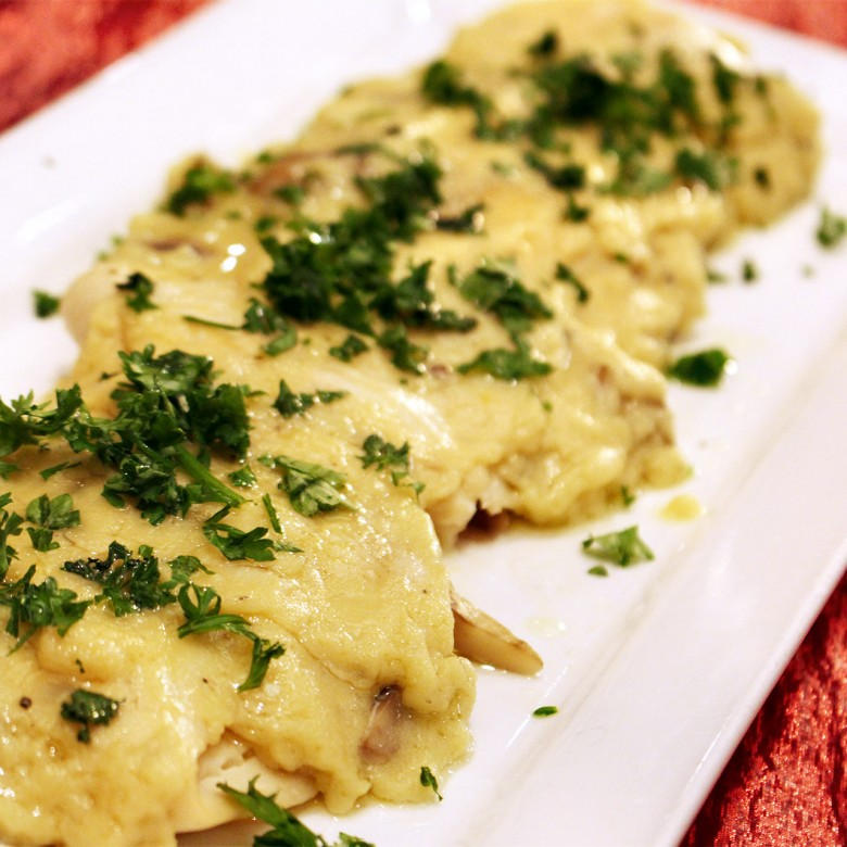 Filet of Sole in a Cream Sauce (Sole Bonne Femme/Good Wife)