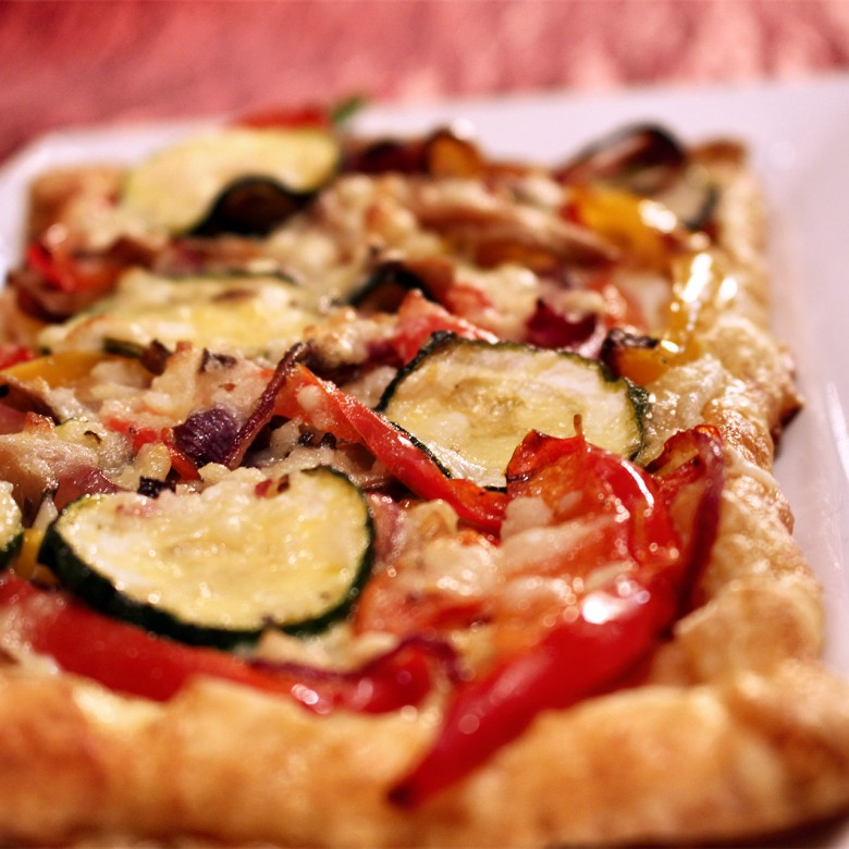 """Something Old"" Roasted Veggie & Gruyere Cheese Tart"