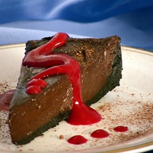 Chocolate Torte with Raspberry Sauce
