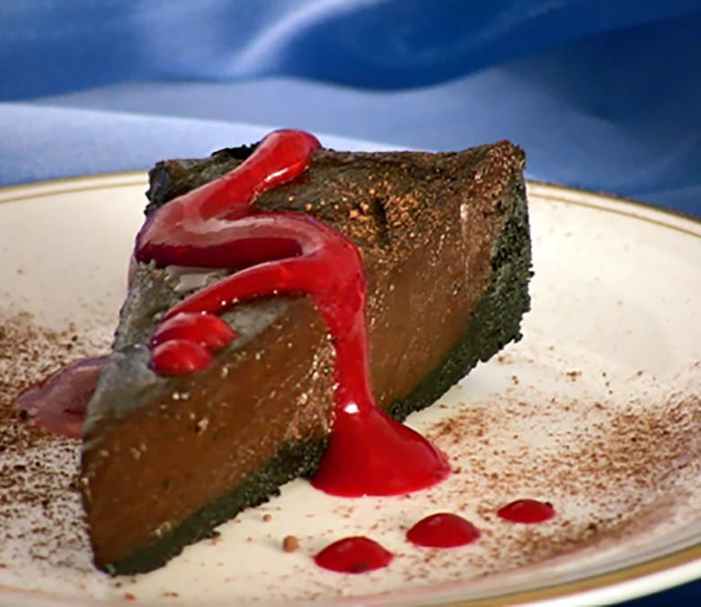 """What Should I Know About You That I'd Never Think To Ask About?"" Chocolate Torte with Raspberry Coulis"