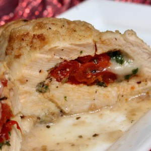 Stuffed Chicken Valentino in Champagne Mushroom Sauce