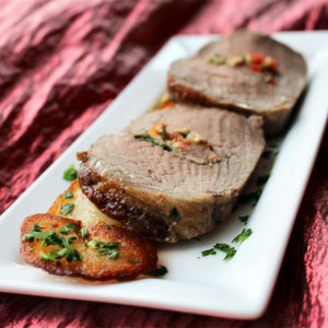 """OK, I'll Take Half"" Beef Tenderloin with Mushroom Herb Stuffing"