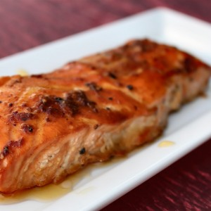 """Winner Takes All Kiss"" Maple Glazed Salmon"