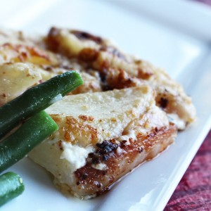 """One-way Ticket to Paradise"" Potatoes au Gratin Dauphinois with Cream & Cheese"