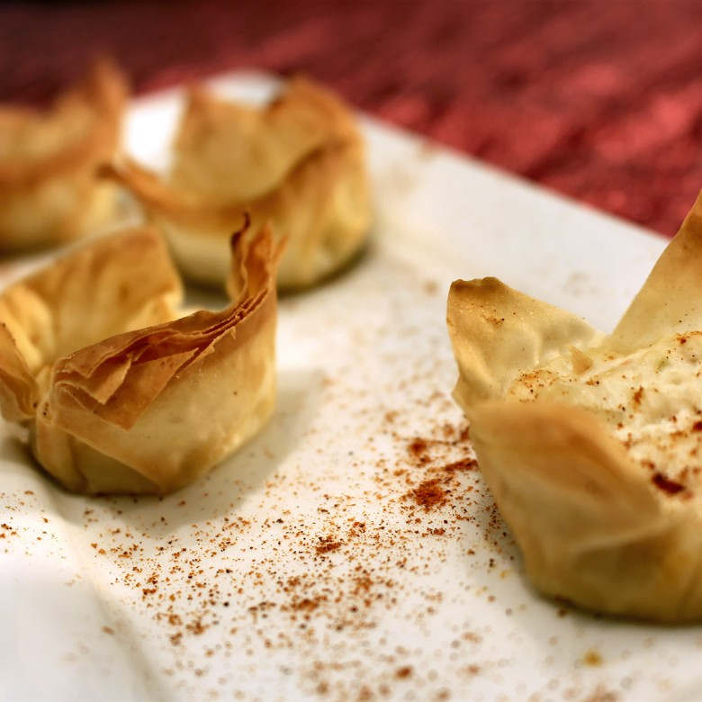 """Loosen up"" Phyllo Cup Crab Appetizers"