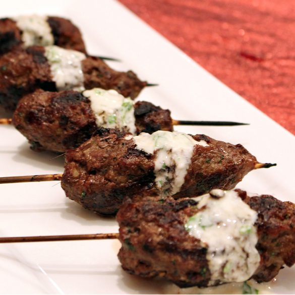 """Bridge of Spies"" Cumin Scented Moroccan Kebobs with Minted Yogurt"