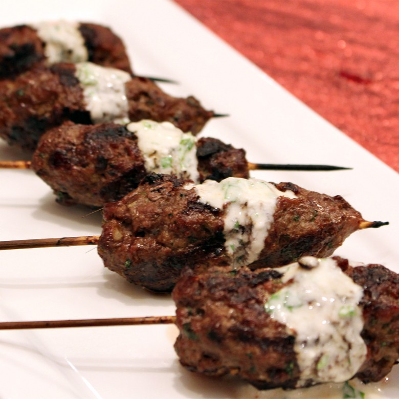 """""""Bridge of Spies"""" Cumin Scented Moroccan Kebobs with Minted Yogurt"""