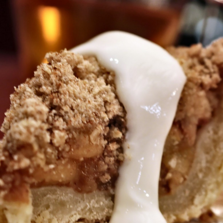 """""""Dear Future Husband – Don't Ever Rock the Boat"""" Warm Deep Dish Apple Crumble Pie with Whipped Maple Cream"""