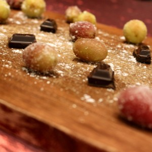 """Playing Against Bad Odds Russian Roulette With the Heart"" Frozen Grapes, Red Wine and Chocolate"