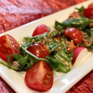 """I Would Try To Make a Star"" Healthy House Salad with Sesame Vinaigrette"