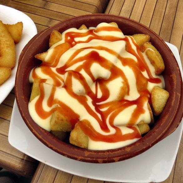 """Inside Out"" Spanish Patatas Bravas Crisp Spiced Potatoes"