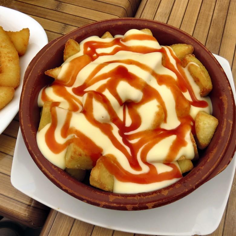 """Inside Out"" Spanish Patatas Bravas Crisp Spiced Potatoes"