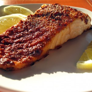 """Some People Do Spend Their Whole Lives Together"" Roasted Salmon with Lemon Coriander Rub"