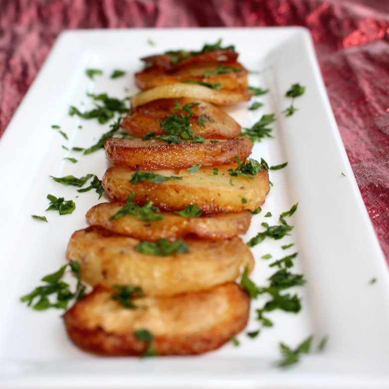 """Silver Bells"" Herb Roasted Chateau Potatoes"