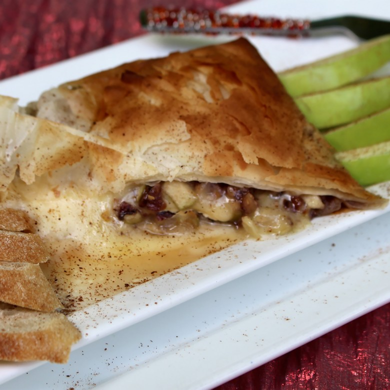 """Now…'That' Was a Full-On Kiss"" Maple-Pecan Apple Stuffed Brie"