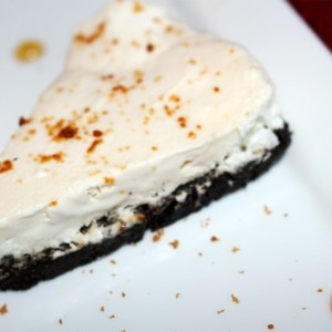 """""""You Took the Words Right Out of My Mouth, Must Have Been When You Were Kissing Me"""" Frozen Maple-Mousse Pie (""""My Lips Are Sealed"""" Whipped Cream On The Side!)"""
