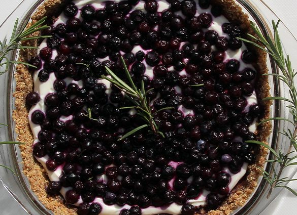 Clarity Blueberry Rosemary Almond-crusted Tart.