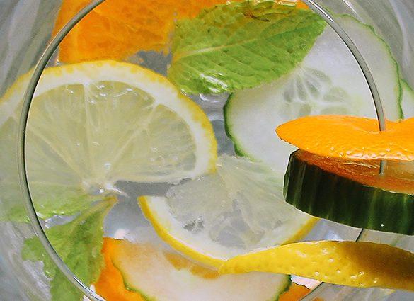 Conscious Citrus Cucumber Detox Infused Water.