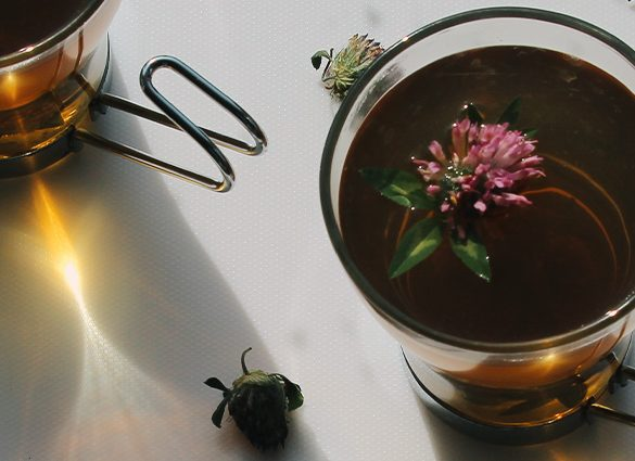 Inner Peace Red Clover Herbal Tea Tonic.