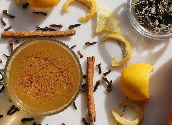 Inner Peace Apple Spiced Red Raspberry Leaf Tea Tonic.