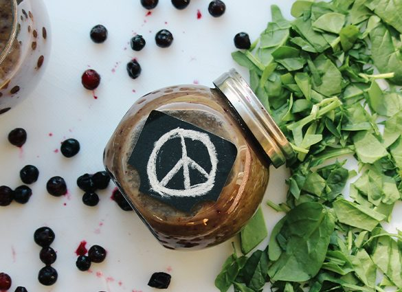 Inner Peace Berry Green Smoothie.