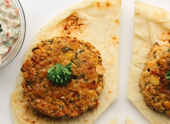 Inner Peace Baked Chickpea 'Burgers' (Falafels).