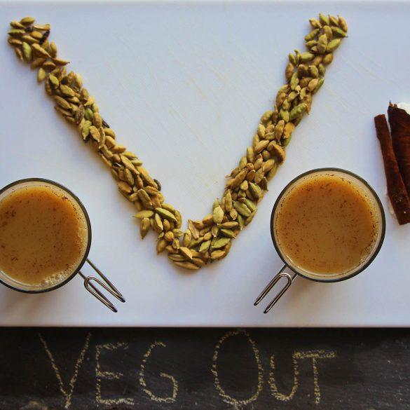 Veg Out Spiced Saffron Tea Tonic.