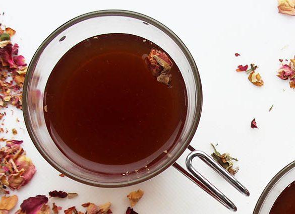 Veg Out Rose Petal Vanilla Tea Tonic.